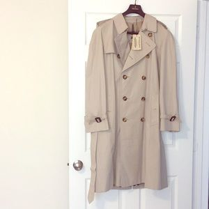 Authentic men's European Burberry trench.